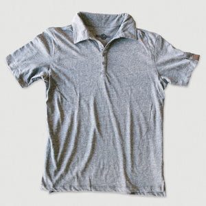 Travel Polo - Heather Gray