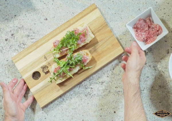 Open-Faced Sandwich with Black Truffle Salami