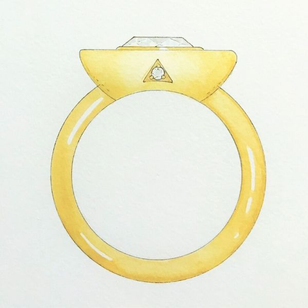 Custom Gold and Onyx Diamond Ring