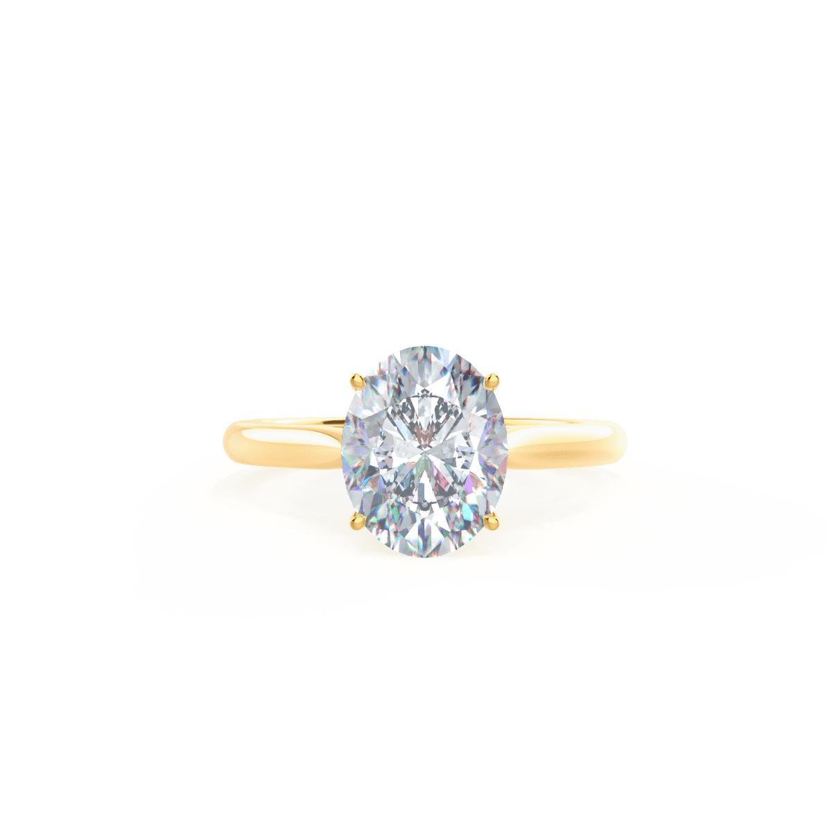 Custom Antique-Style Oval Diamond Engagement Ring