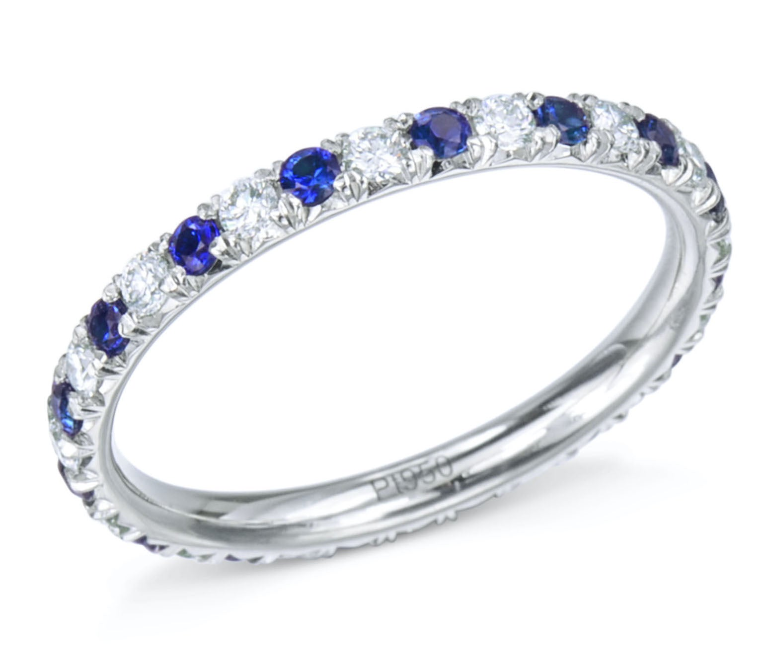 Custom Sapphire and Diamond Eternity Band