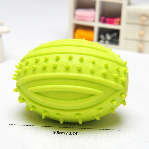 Thermoplastic Rubber Rugby Ball For Pet Molar Play - Dollar Dog Toys