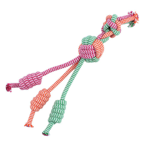 Cotton Rope Durable Dog Toy (Random Color) - Dollar Dog Toys