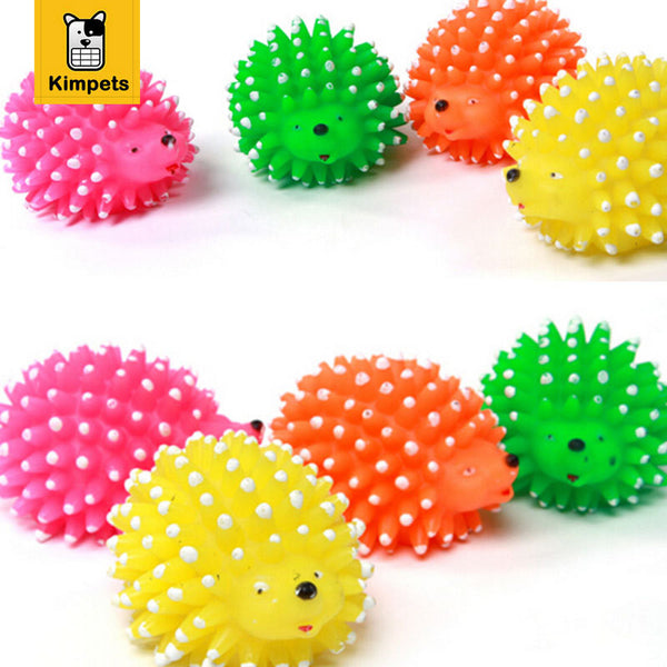 Colorful Hedgehog Squeaky Chew Toy (Random Color) - Dollar Dog Toys