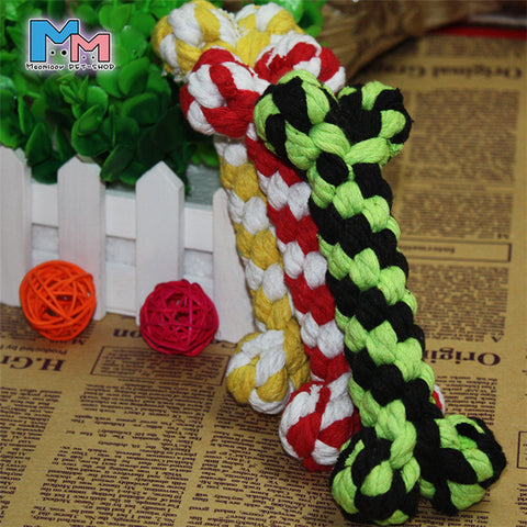 Bone Rope Cotton Chew Knot Toy (Random Color) - Dollar Dog Toys