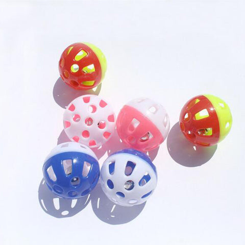 Tinkle Bell Ball Plastic Ball - Dollar Dog Toys