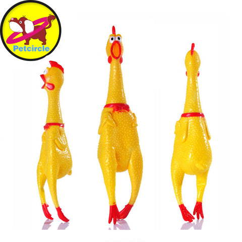 Screaming Rubber Chicken - Dollar Dog Toys