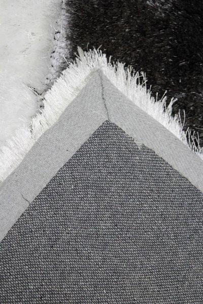 8x10 Feet Gray Grey Color Shag Shaggy Area Rug Romance Design