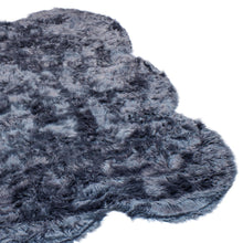 RugBerry Sheepskin Shape Collection 2-inch Thick Shag Rug 5' x 7' ft Gray