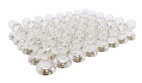 Clear Magnetic Push Pins - Set of 48