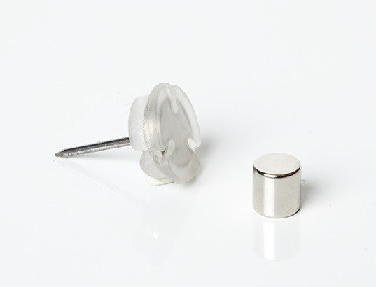 "Magnetic ""No Hole"" Magnetic Tacks - 8 Ct."