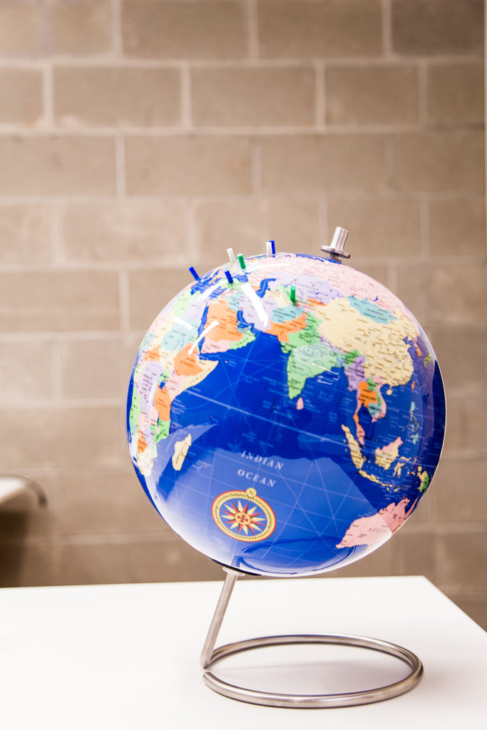 Blue Magnetic World Globe