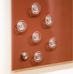 Clear Button Magnets for Glass Boards and Magnetic Whiteboards, Refrigerators, Cabinets, etc - 6 Pack