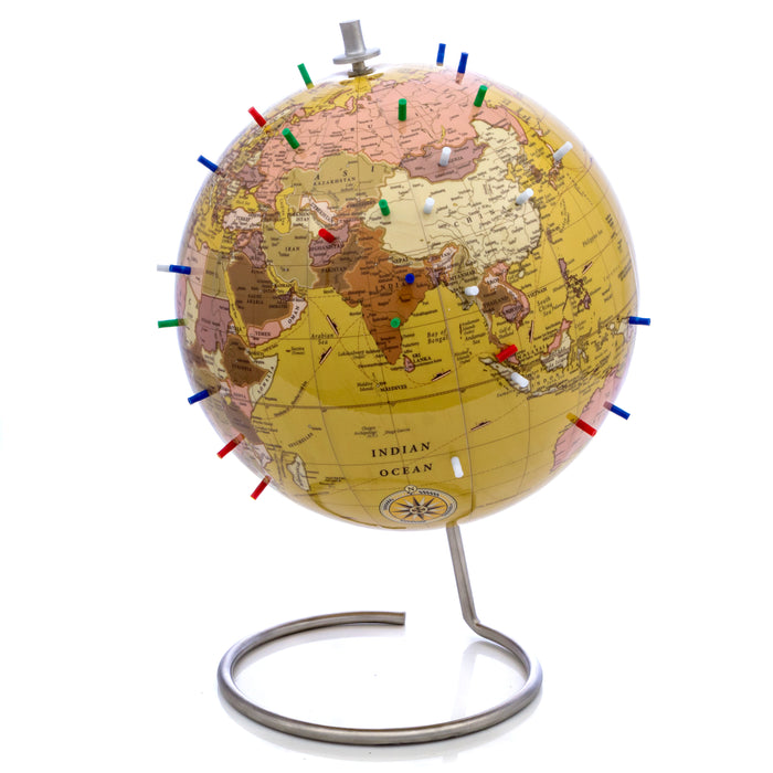 Tan Magnetic World Globe