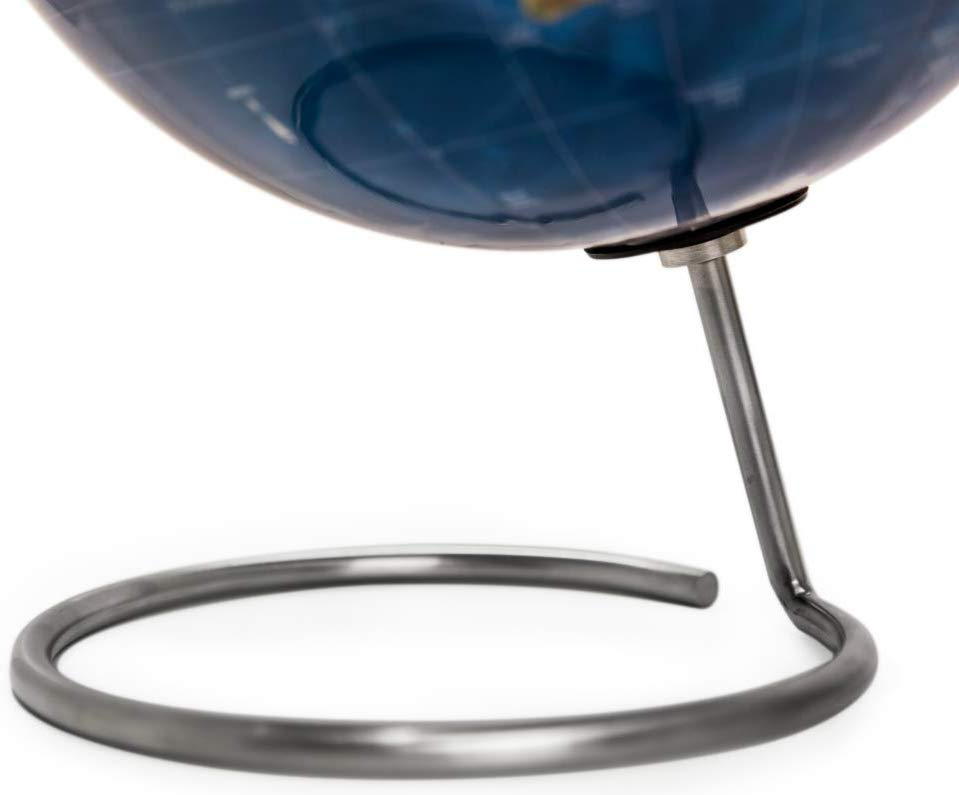 Perfect as Office Desk Globe Bullseye Office Topographic Magnetic Globe or Travelers Globe NEW Lacquer Finish Standing World Globe with Magnetic Pins Geography Classroom Globe Kids or Adults