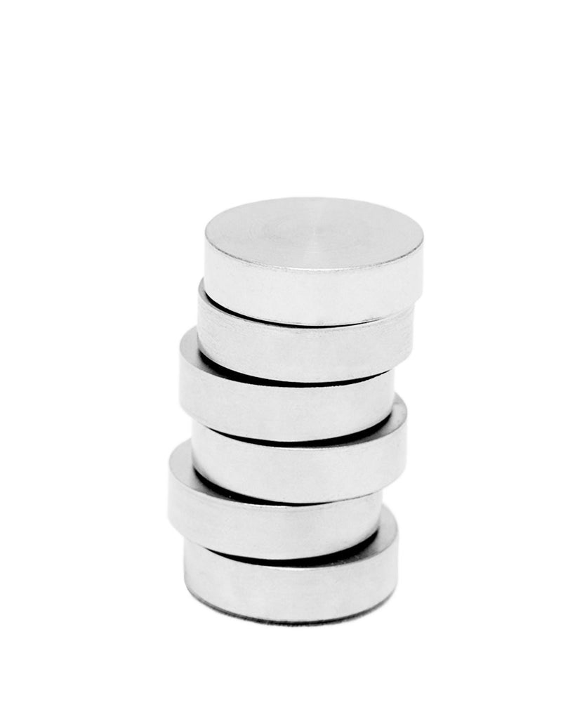 Stainless Steel Circle Magnets - 6 Ct.