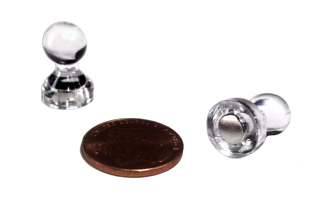 Clear Acrylic Pawn Magnets - 24 Ct.