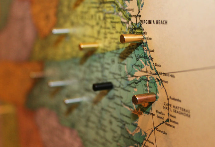 Magnetic Metal Map Pins - 30 Ct.