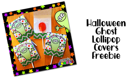Halloween Ghost Lollipop Covers