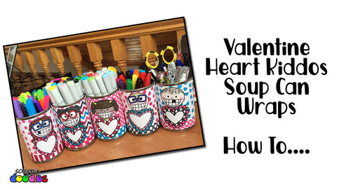Valentine Heart Kiddos Soup Can Wraps - How To