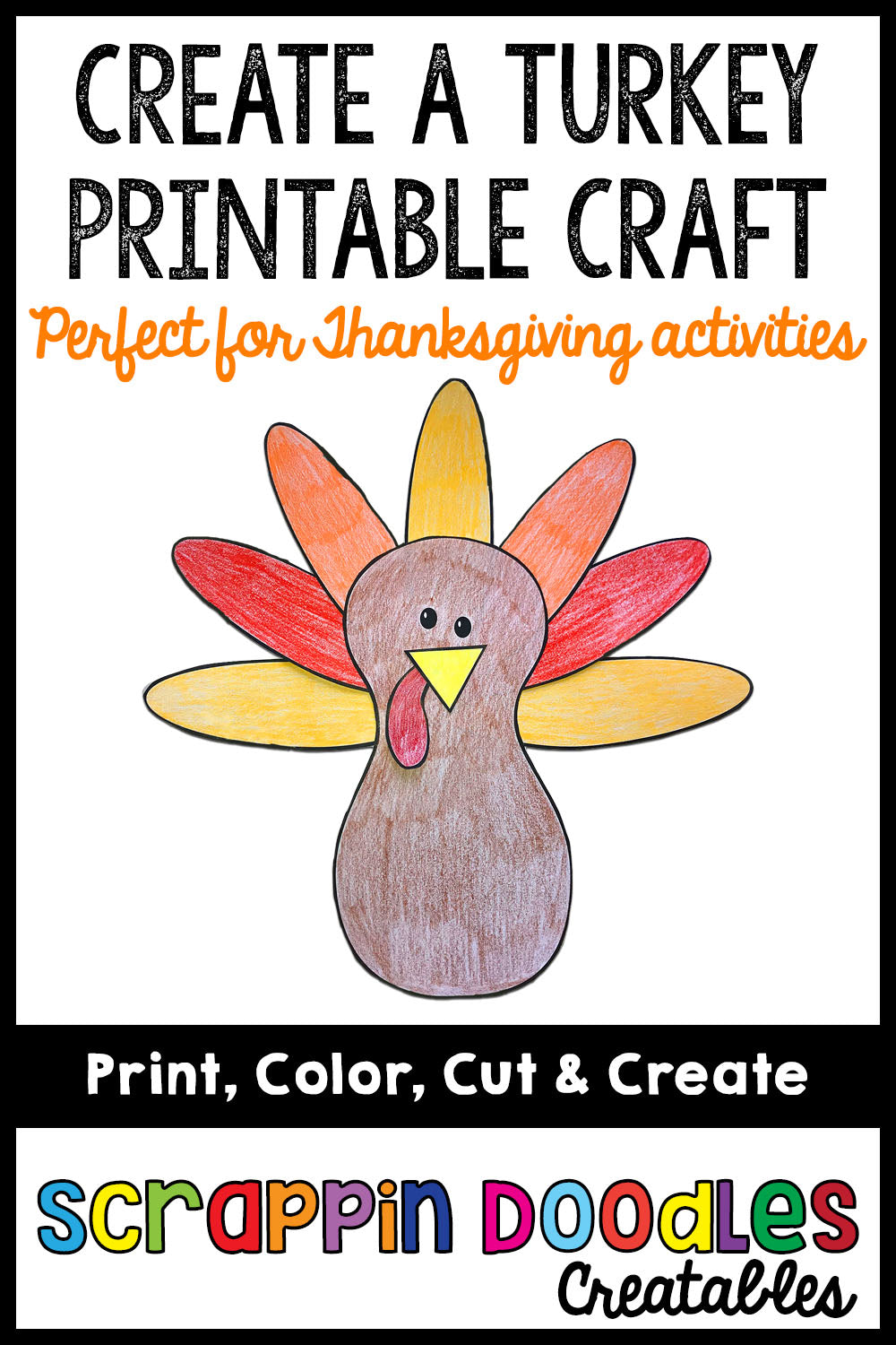 Create A Turkey Printable Craft