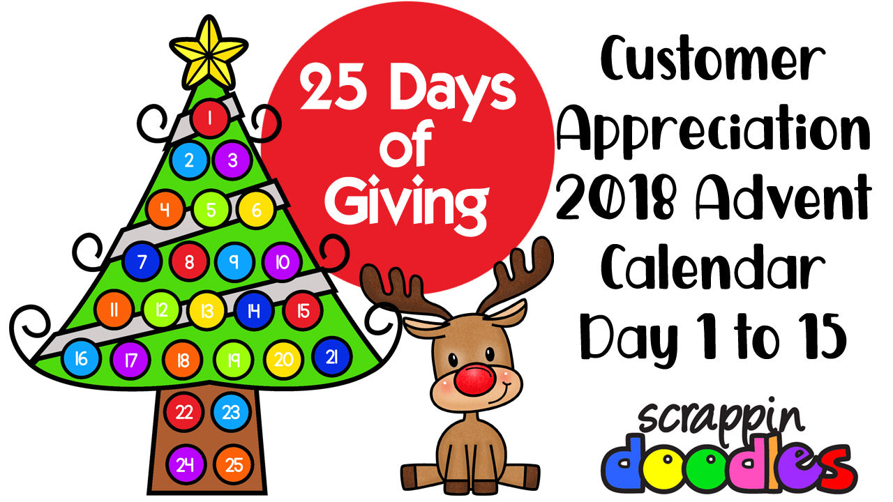 2018 Advent Calendar Day 1 To 15 Scrappin Doodles