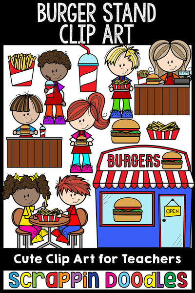 Burger Stand Clip Art Fast Food