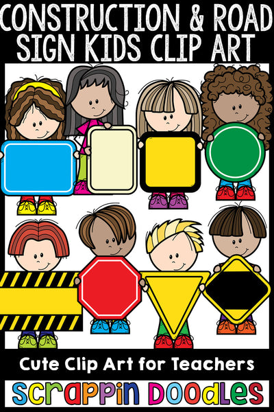 Construction / Road Sign Kiddos Clip Art