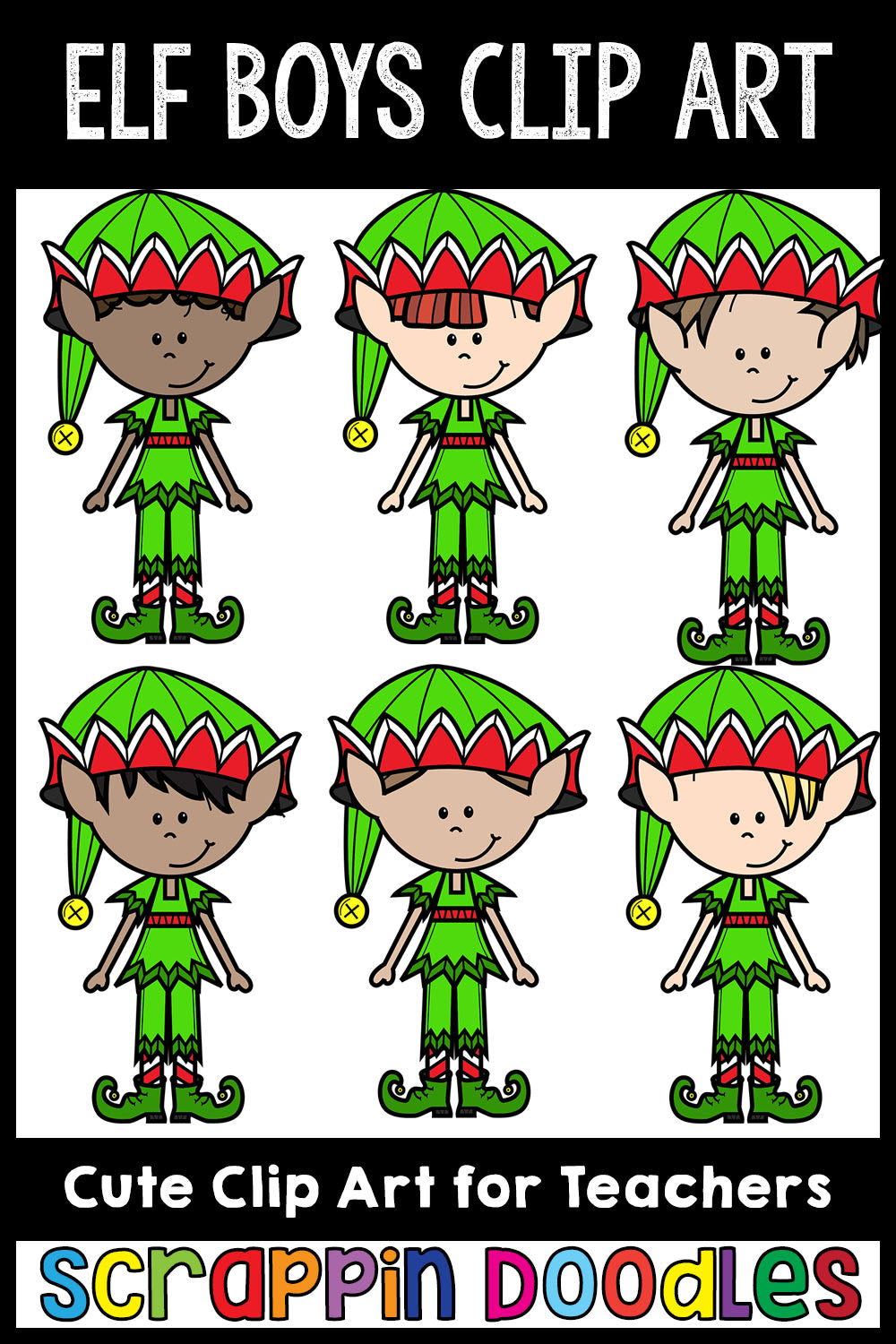 Elf Boys Clip Art