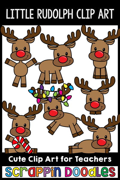 Little Rudolph Clip Art