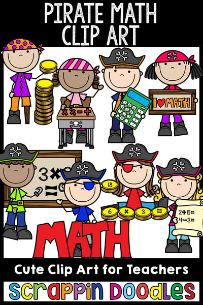 Pirate Math Clip Art School Commercial Use