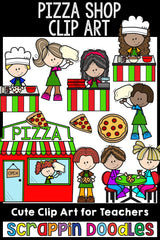Pizza Shop Clip Art Fast Food Commercial Use