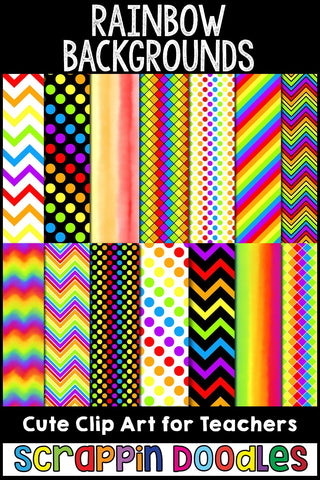 "Rainbow 12"" x 12"" Backgrounds"