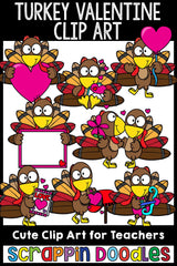 Turkey Valentine Clip Art Commercial Use