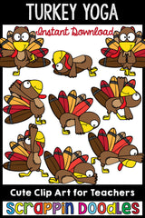 Turkey Yoga Clip Art