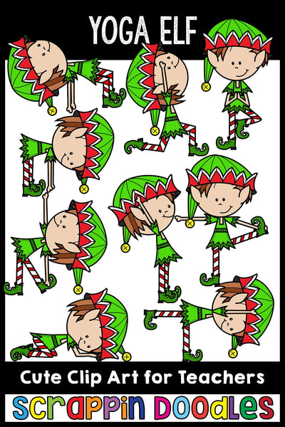 Elf Yoga Clip Art Poses