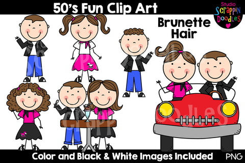 Fifties Fun Kids Clip Art
