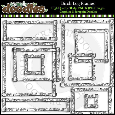Birch Log Frames