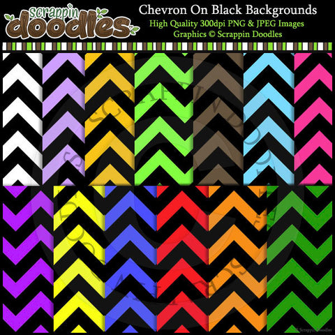 Chevron on Black Backgrounds