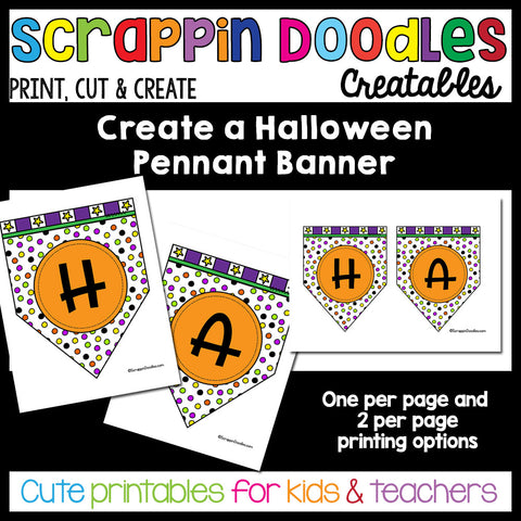 Create a Halloween Pennant Banner Craft