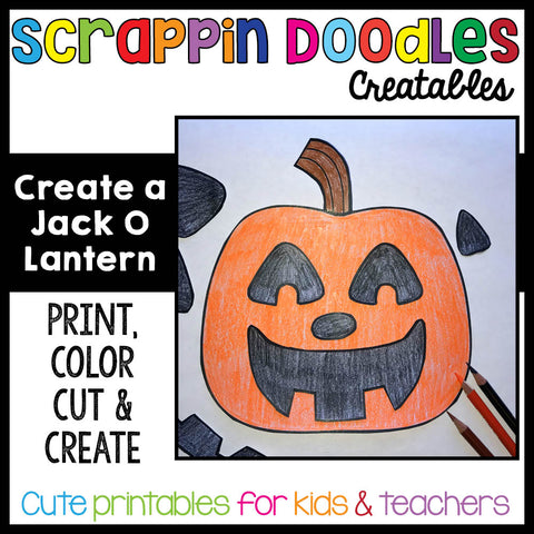 Create a Jack O Lantern Craft {Print, Color, Cut & Paste}
