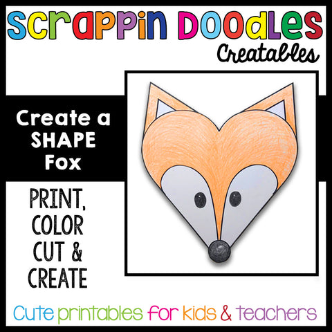 Create a SHAPE Fox Craft - Printable Crafts