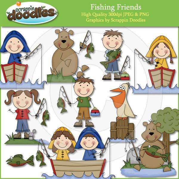 Fishing Friends Clip Art Download
