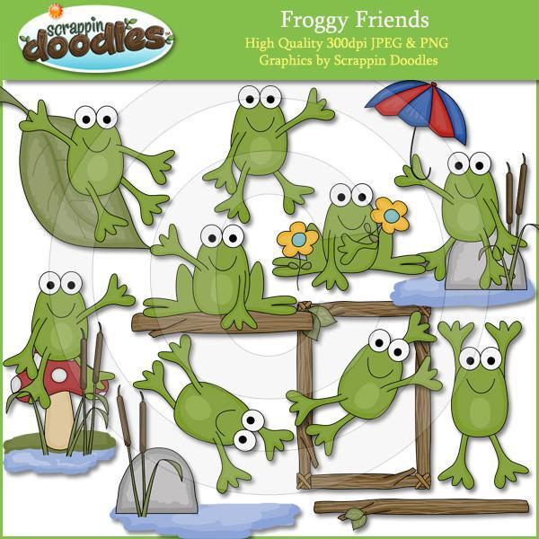 Froggy Friends Clip Art Download