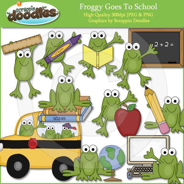 Froggy Goes To School Clip Art Download