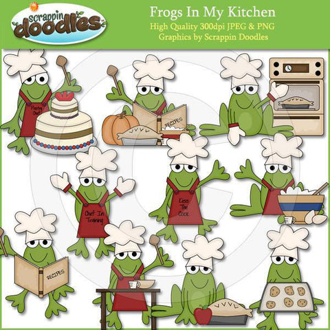 Frogs In My Kitchen Clip Art Download