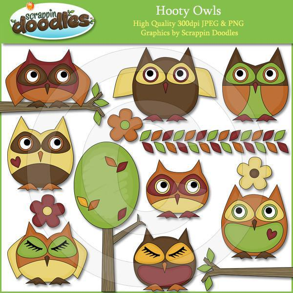 Hooty Owls Clipart Download
