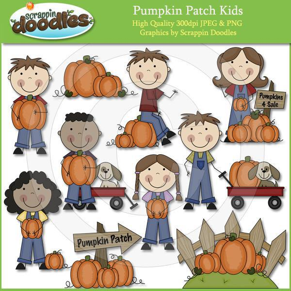 Pumpkin Patch Kids Clip Art Download