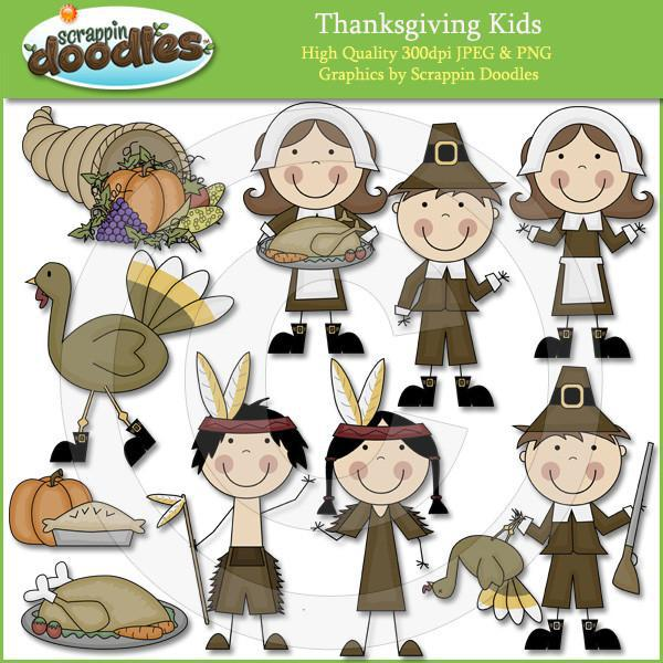 Thanksgiving Kids Clip Art