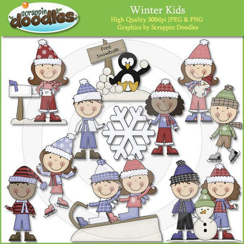 Winter Kids Clipart Download